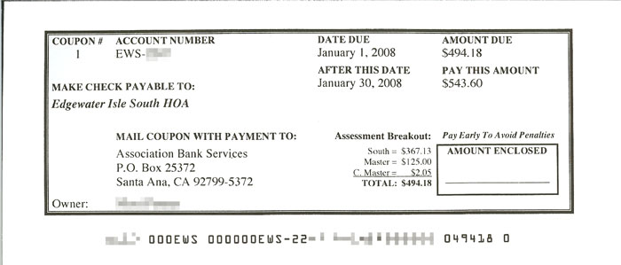 Payment coupon books
